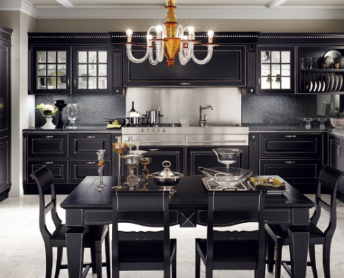 Cucina scavolini baltimora arredamenti piumazzo modena for Cucina nera opaca